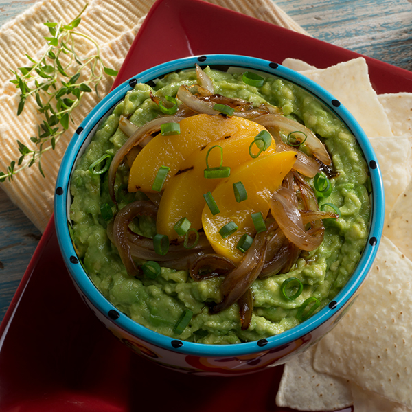 PEACH CHARRED CHILE GUAC