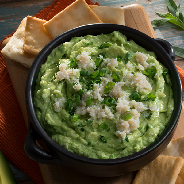 NEW ENGLAND STYLE CRAB GUACAMOLE